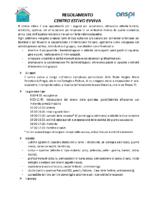 REGOLAMENTO CENTRO ESTIVO